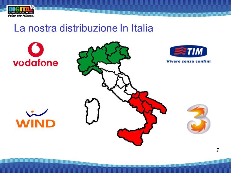 La nostra distribuzione In Italia