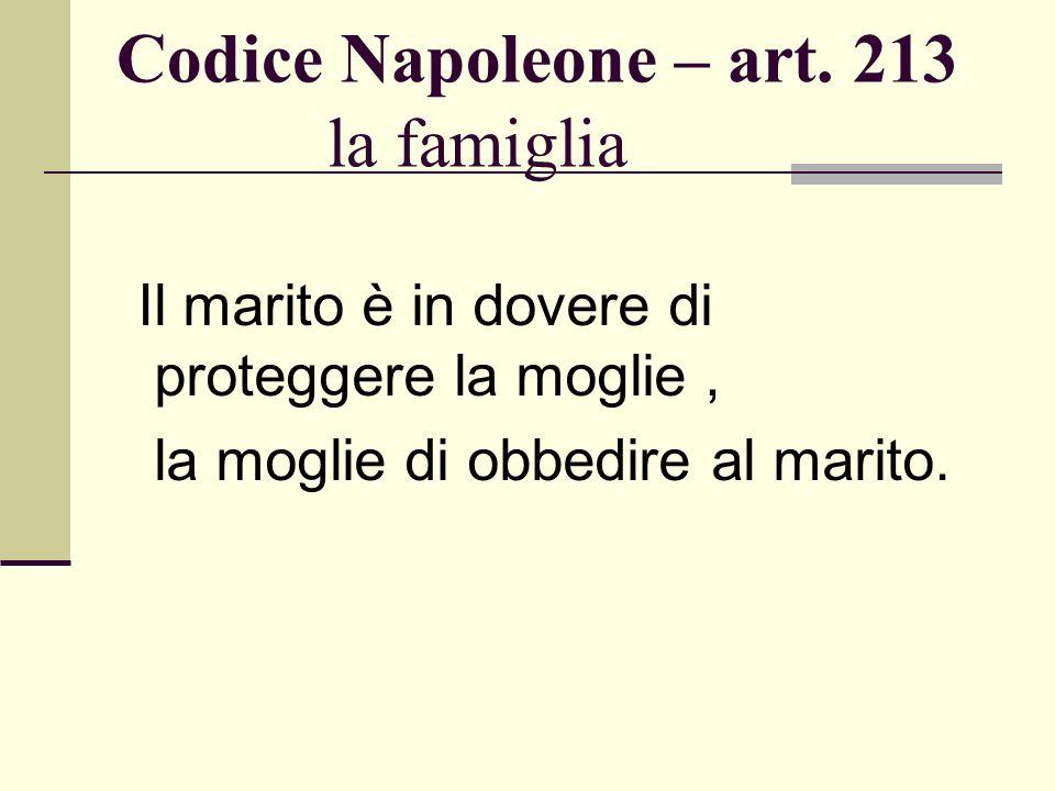Codice Napoleone – art. 213 la famiglia
