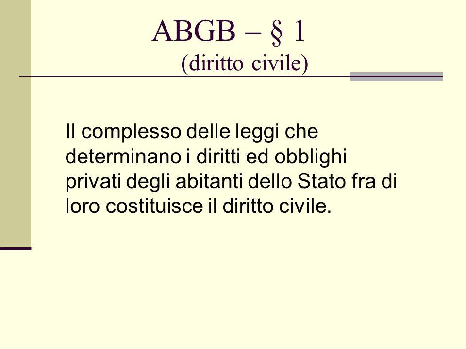 ABGB – § 1 (diritto civile)