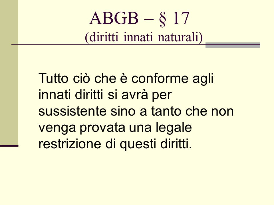 ABGB – § 17 (diritti innati naturali)