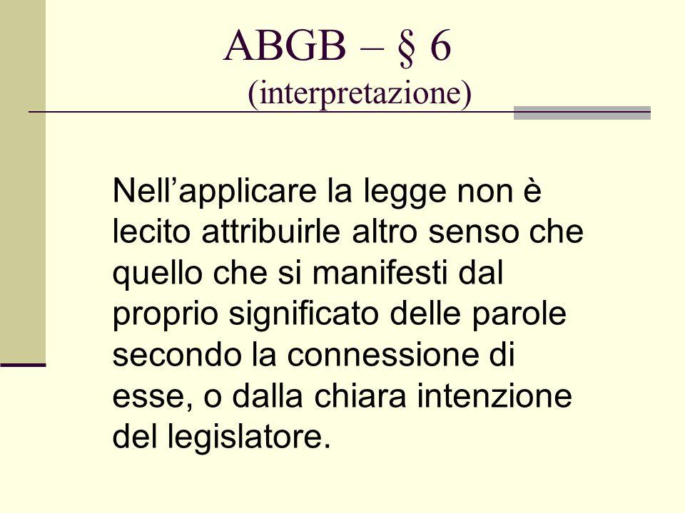 ABGB – § 6 (interpretazione)