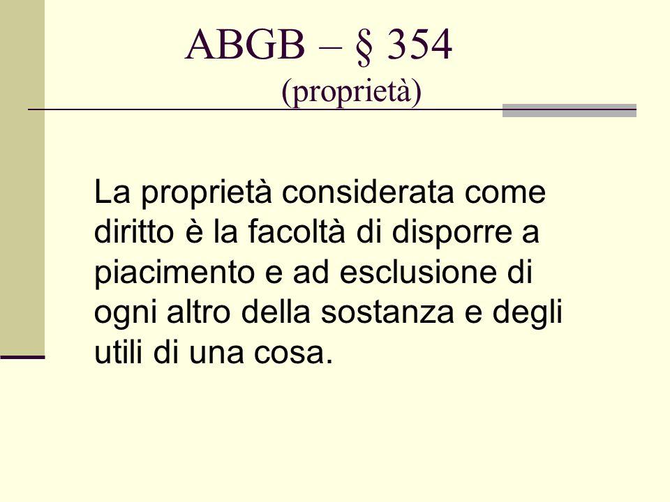 ABGB – § 354 (proprietà)
