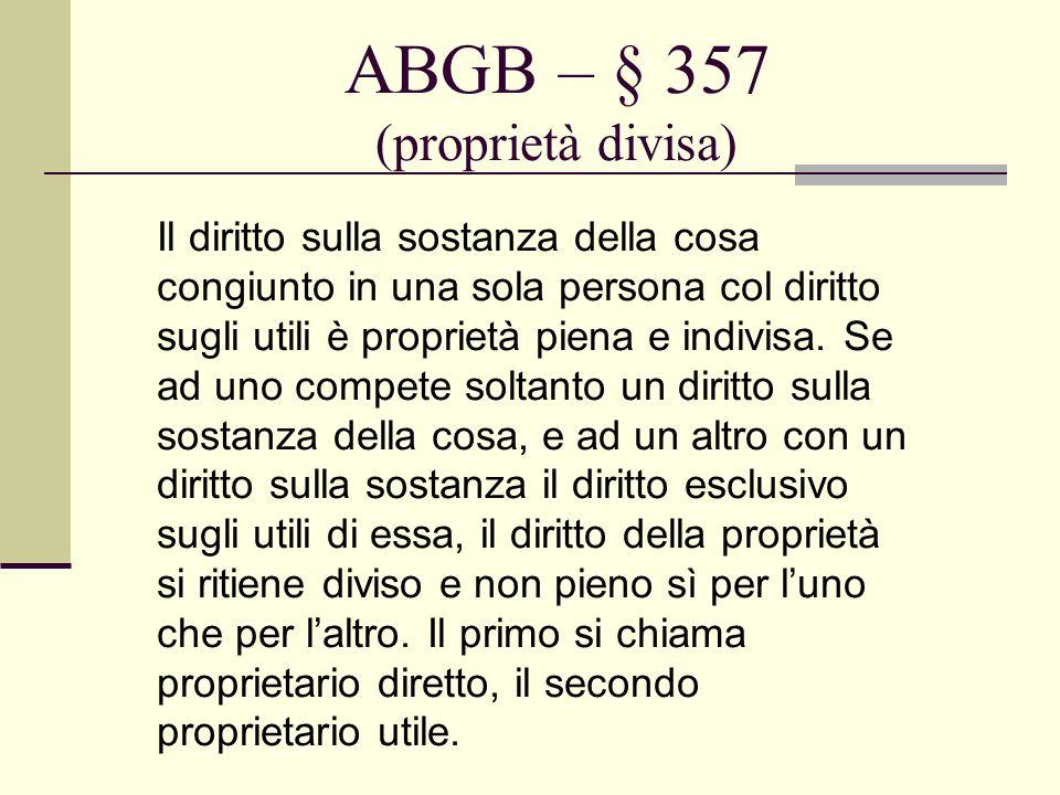 ABGB – § 357 (proprietà divisa)