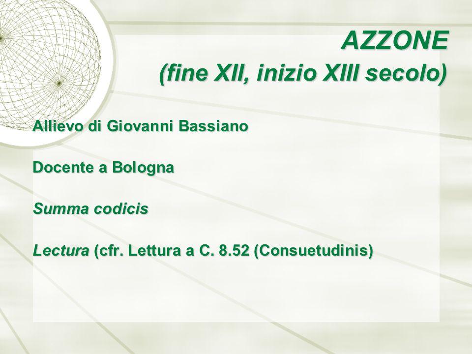 AZZONE (fine XII, inizio XIII secolo)