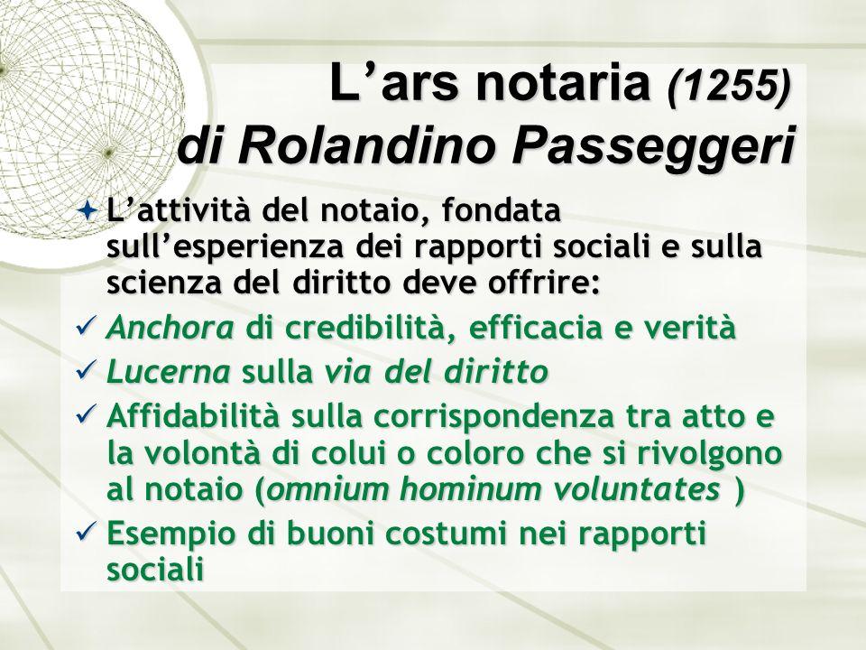 L'ars notaria (1255) di Rolandino Passeggeri