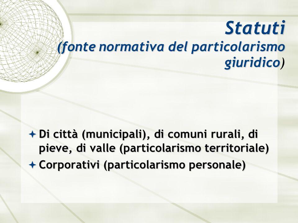 Statuti (fonte normativa del particolarismo giuridico)