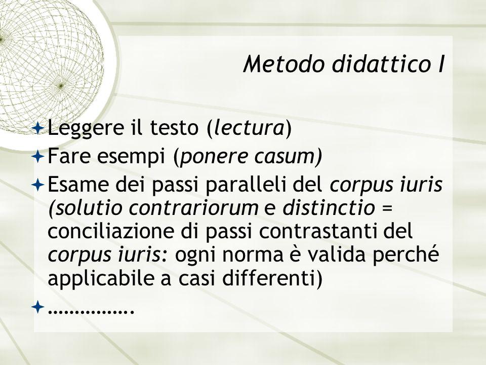 Metodo didattico I Leggere il testo (lectura)