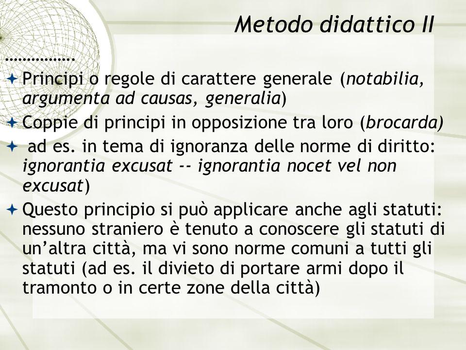 Metodo didattico II …………….