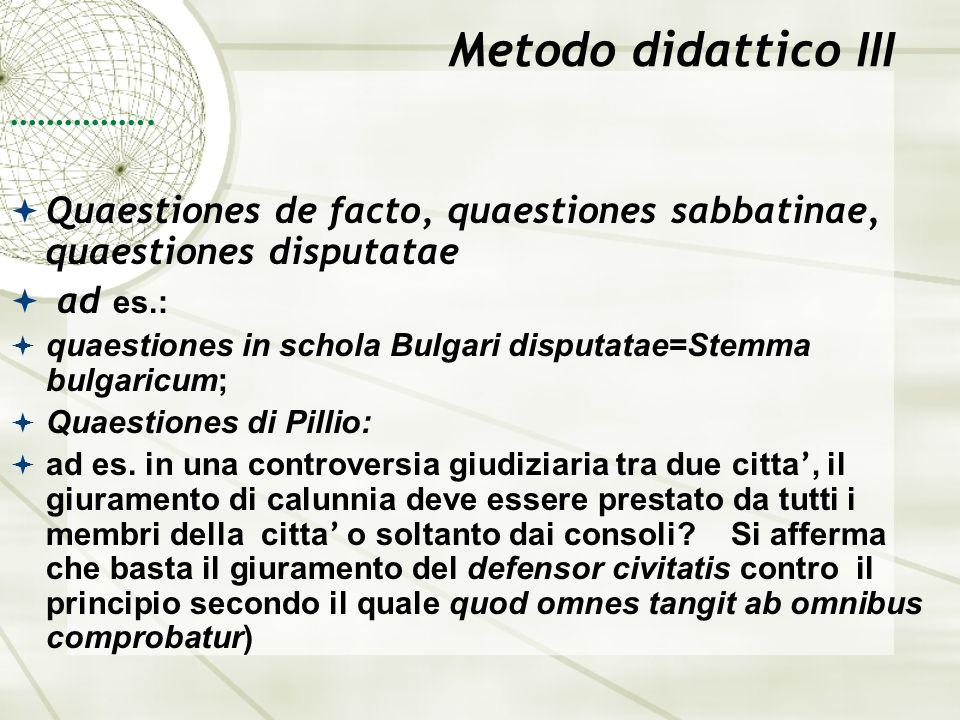 Metodo didattico III …………….