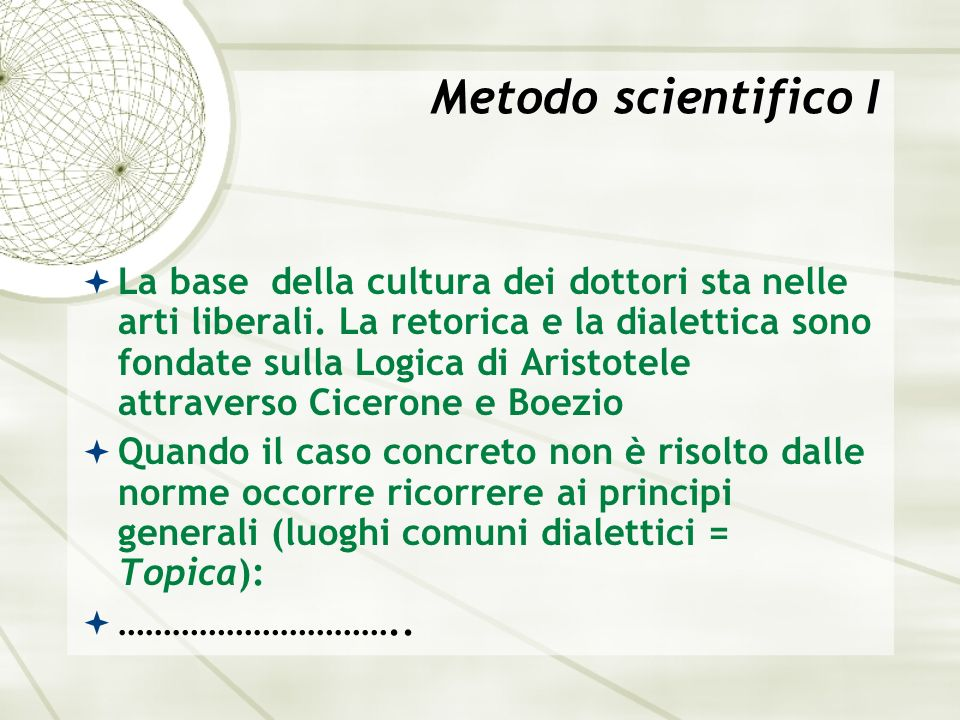 Metodo scientifico I