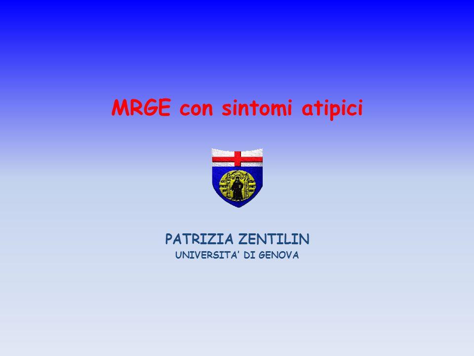 MRGE con sintomi atipici