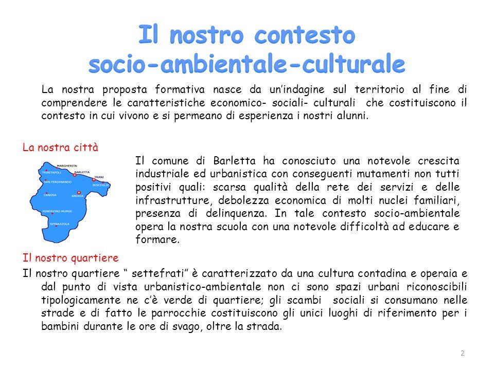 Il nostro contesto socio-ambientale-culturale