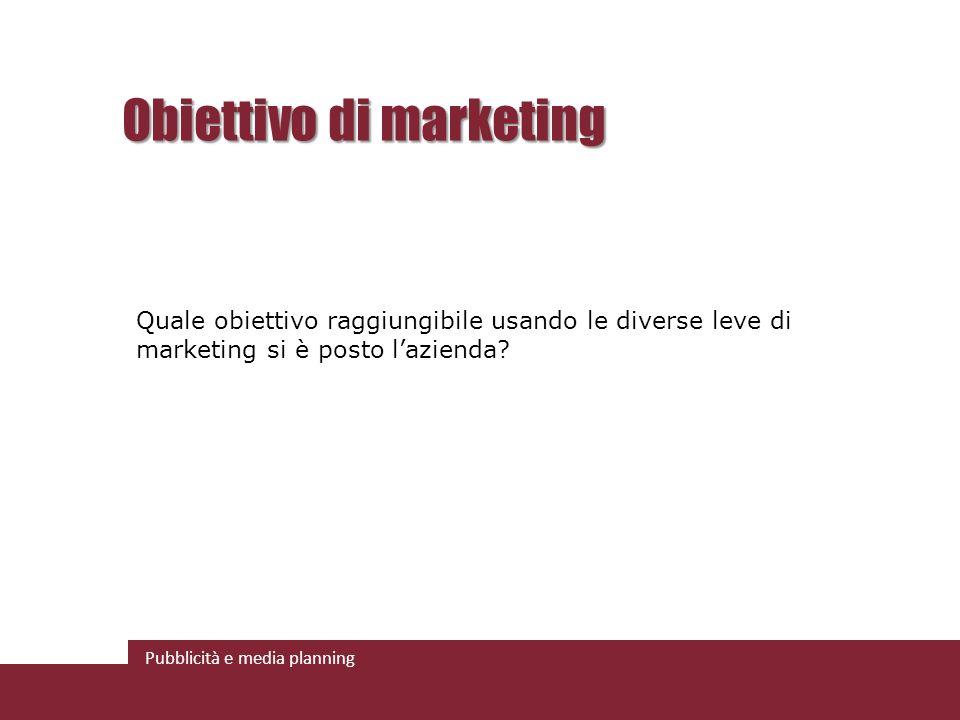 Obiettivo di marketing