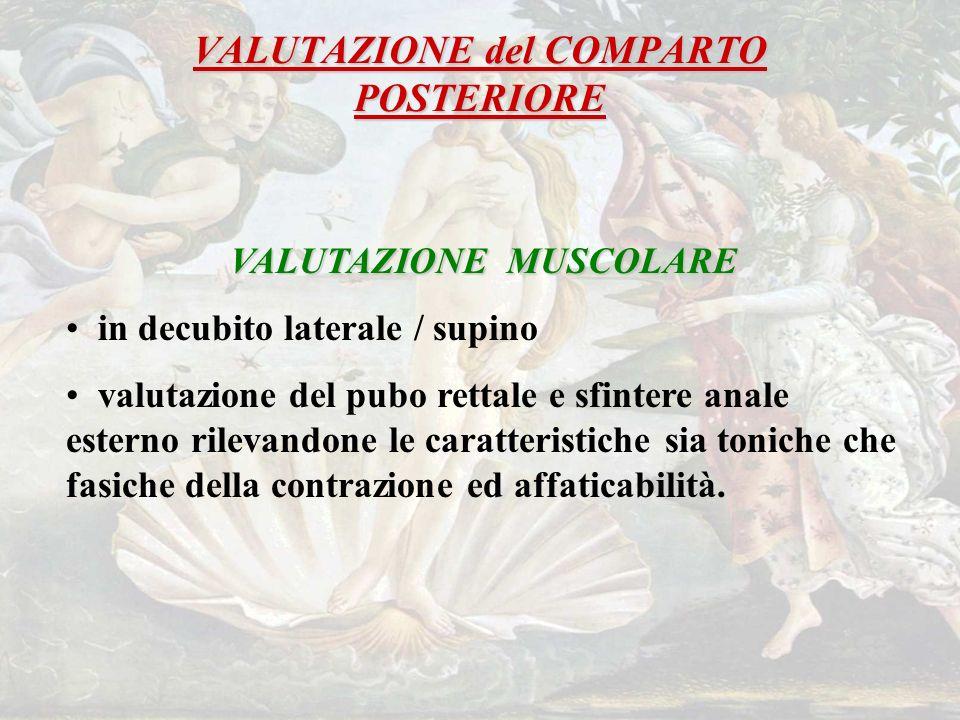 VALUTAZIONE del COMPARTO POSTERIORE