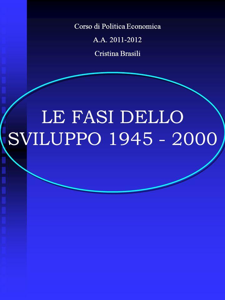 LE FASI DELLO SVILUPPO 1945 - 2000