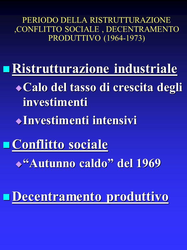Ristrutturazione industriale