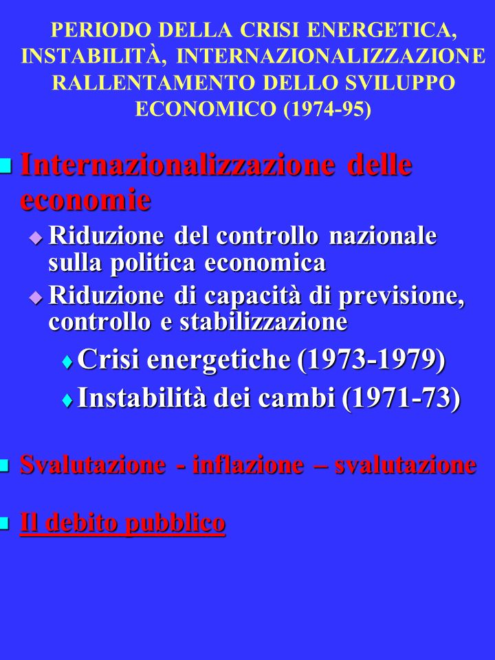 Internazionalizzazione delle economie
