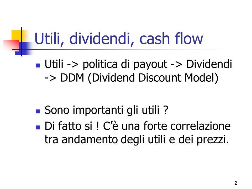 Utili, dividendi, cash flow