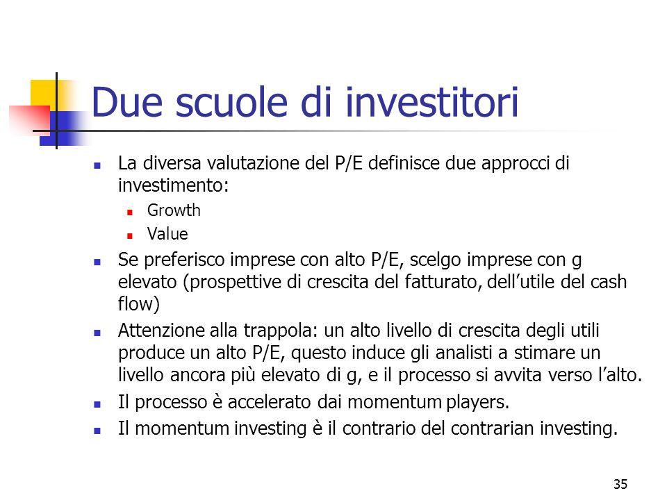 Due scuole di investitori