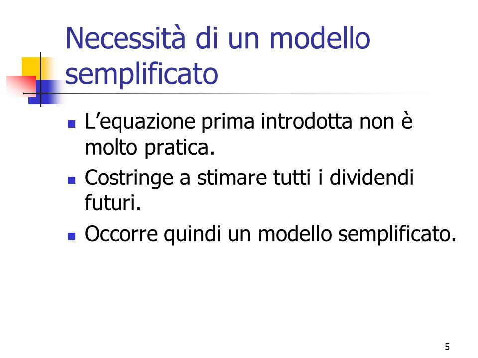 Necessità di un modello semplificato