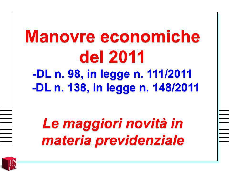 Manovre economiche del 2011