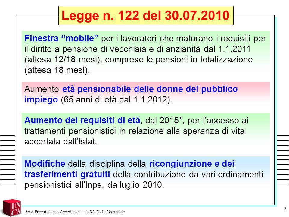Legge n. 122 del 30.07.2010