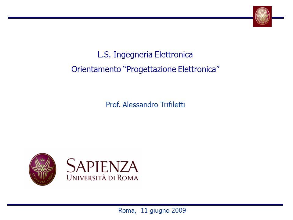 L.S. Ingegneria Elettronica Orientamento Progettazione Elettronica