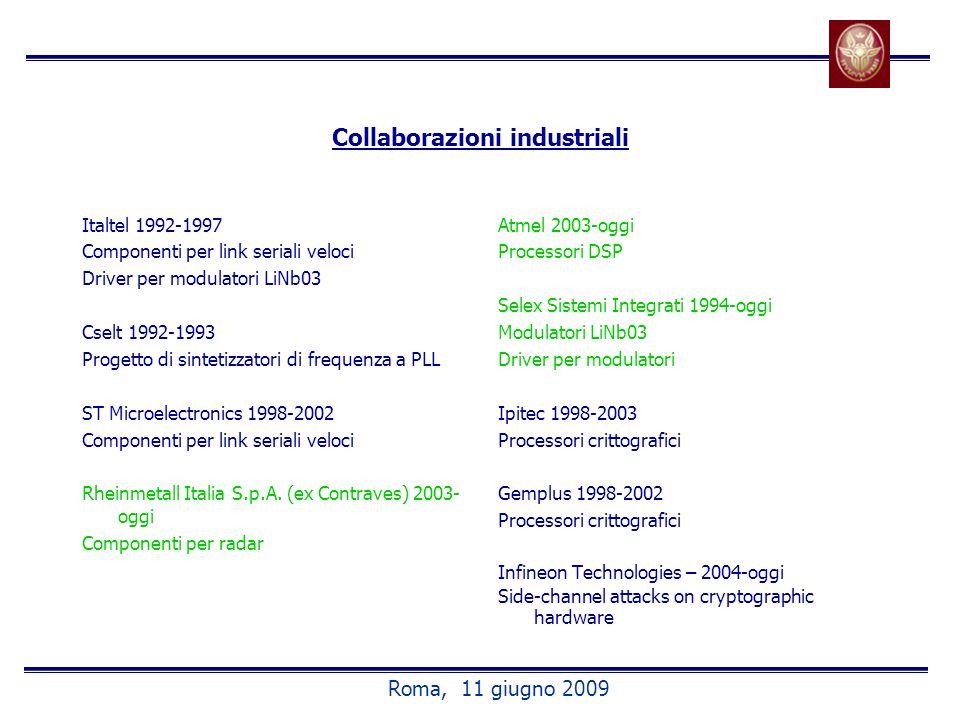 Collaborazioni industriali
