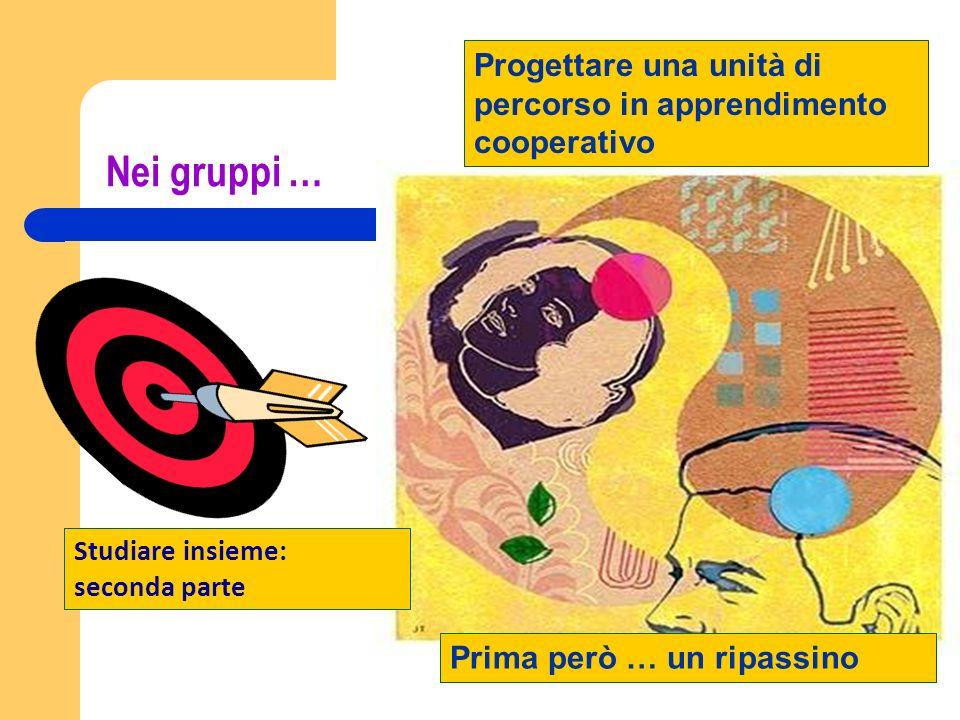 Progettare una unità di percorso in apprendimento cooperativo
