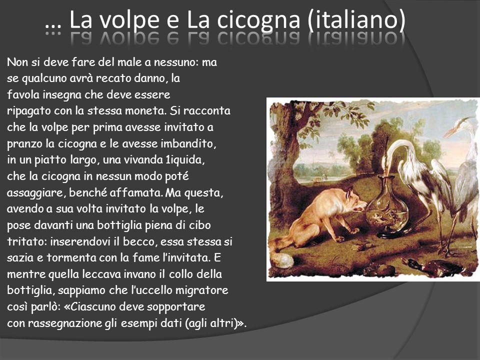 … La volpe e La cicogna (italiano)