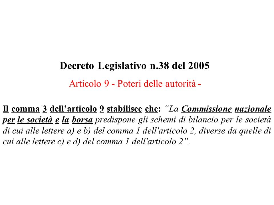 Decreto Legislativo n.38 del 2005