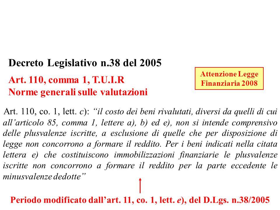 Periodo modificato dall'art. 11, co. 1, lett. e), del D.Lgs. n.38/2005