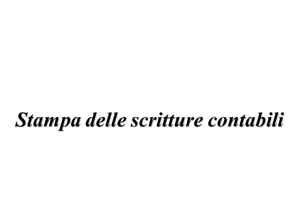 Stampa delle scritture contabili