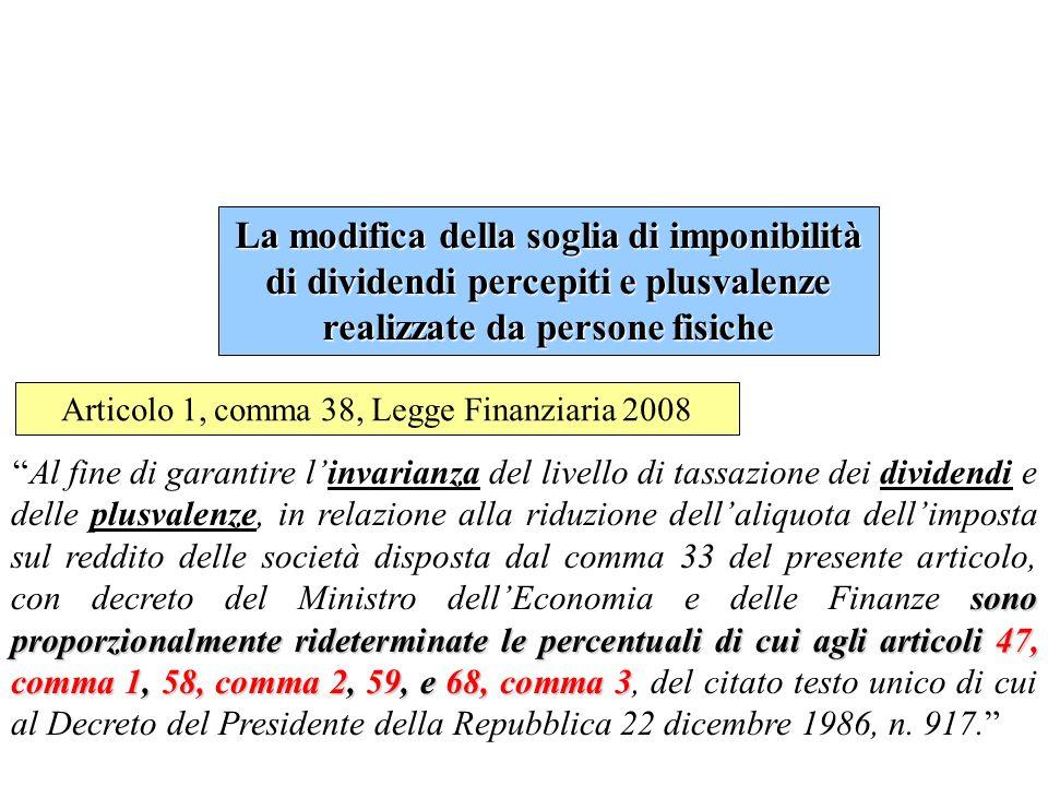 Articolo 1, comma 38, Legge Finanziaria 2008