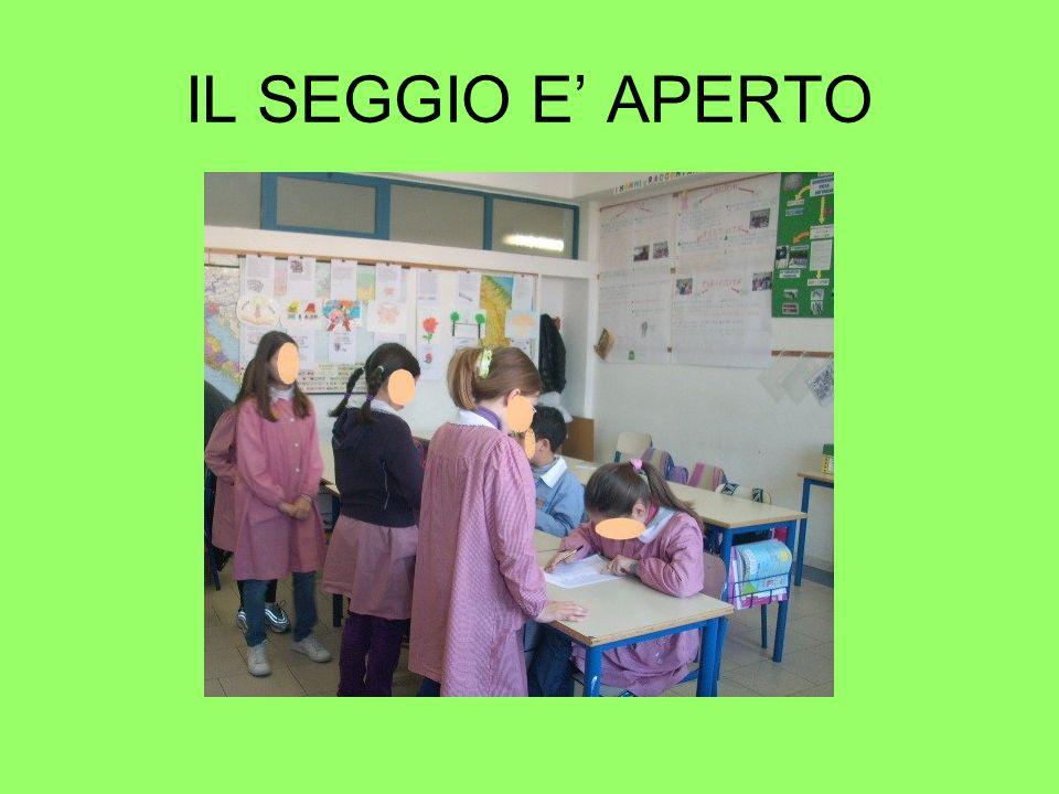 IL SEGGIO E' APERTO