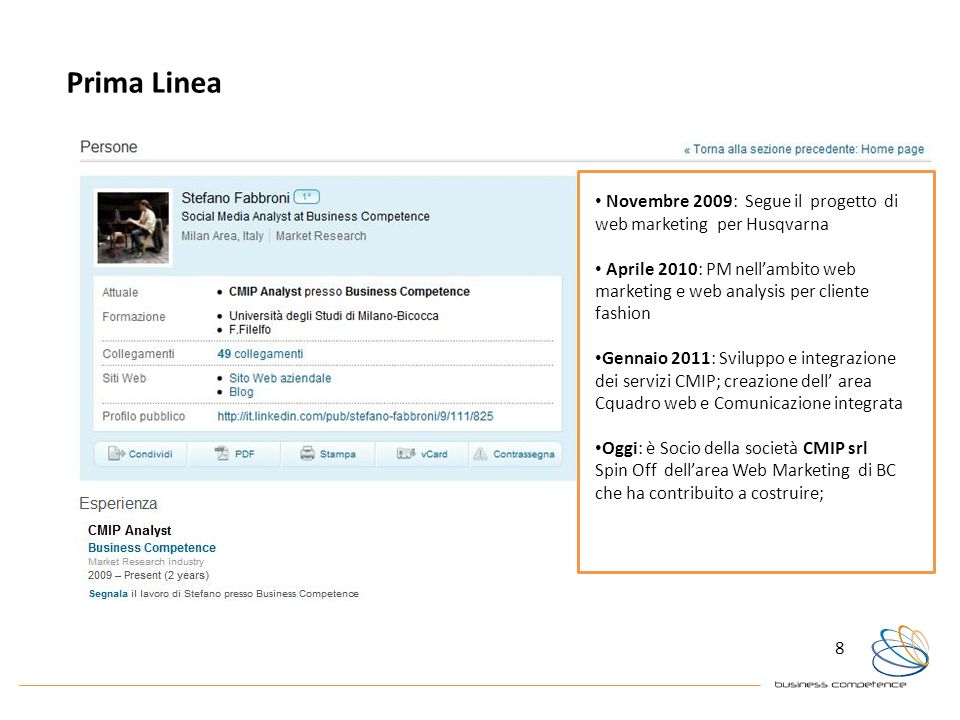Prima LineaNovembre 2009: Segue il progetto di web marketing per Husqvarna.