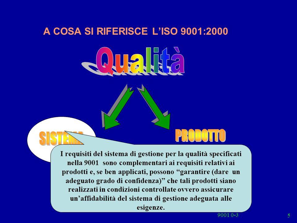 A COSA SI RIFERISCE L'ISO 9001:2000