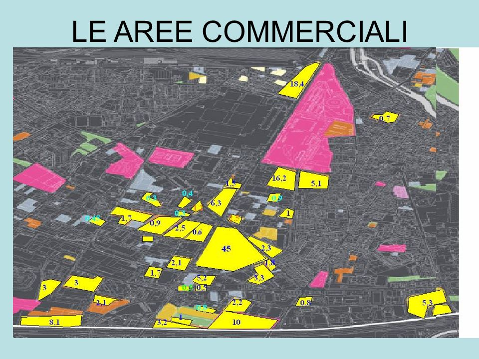 LE AREE COMMERCIALI