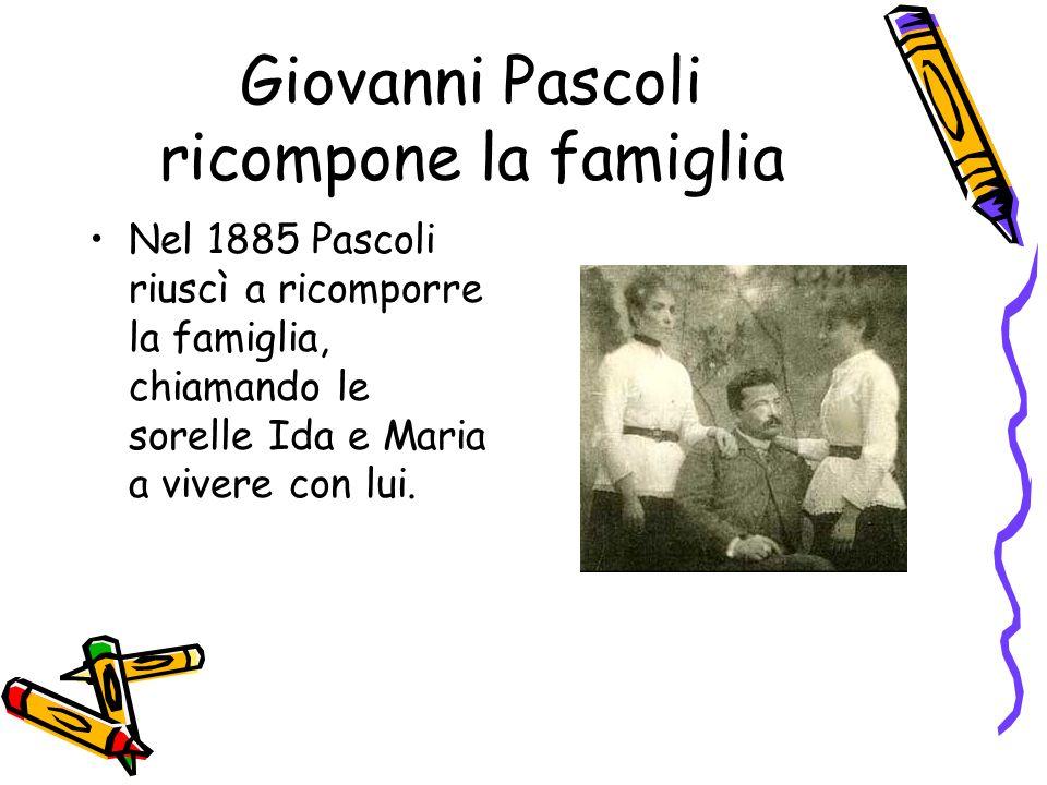 Giovanni Pascoli ricompone la famiglia