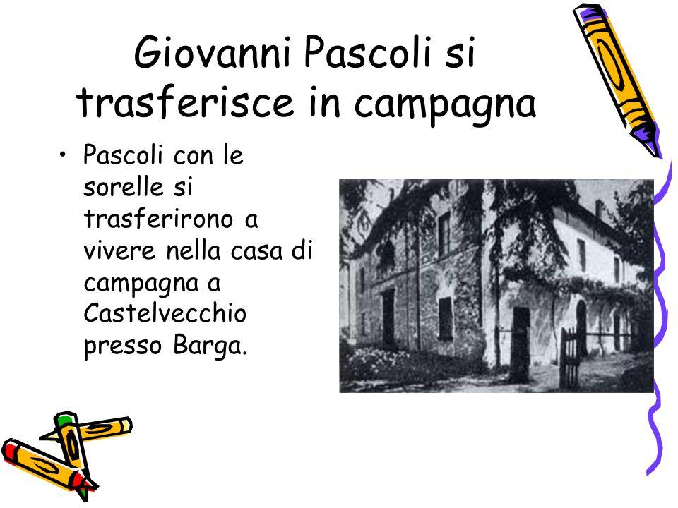 Giovanni Pascoli si trasferisce in campagna