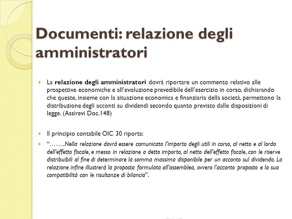 Documenti: relazione degli amministratori