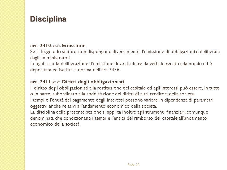 Disciplina art. 2410. c.c. Emissione