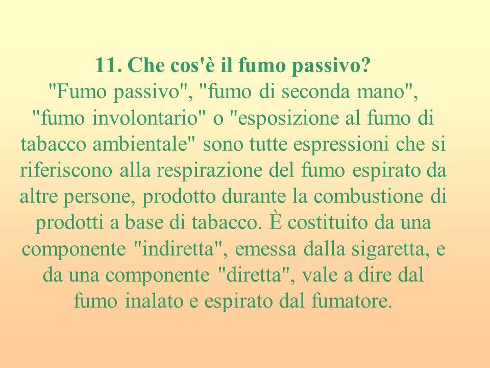 11. Che cos è il fumo passivo