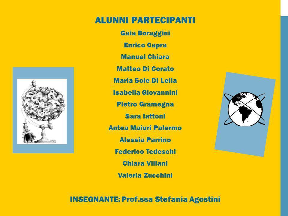 INSEGNANTE: Prof.ssa Stefania Agostini