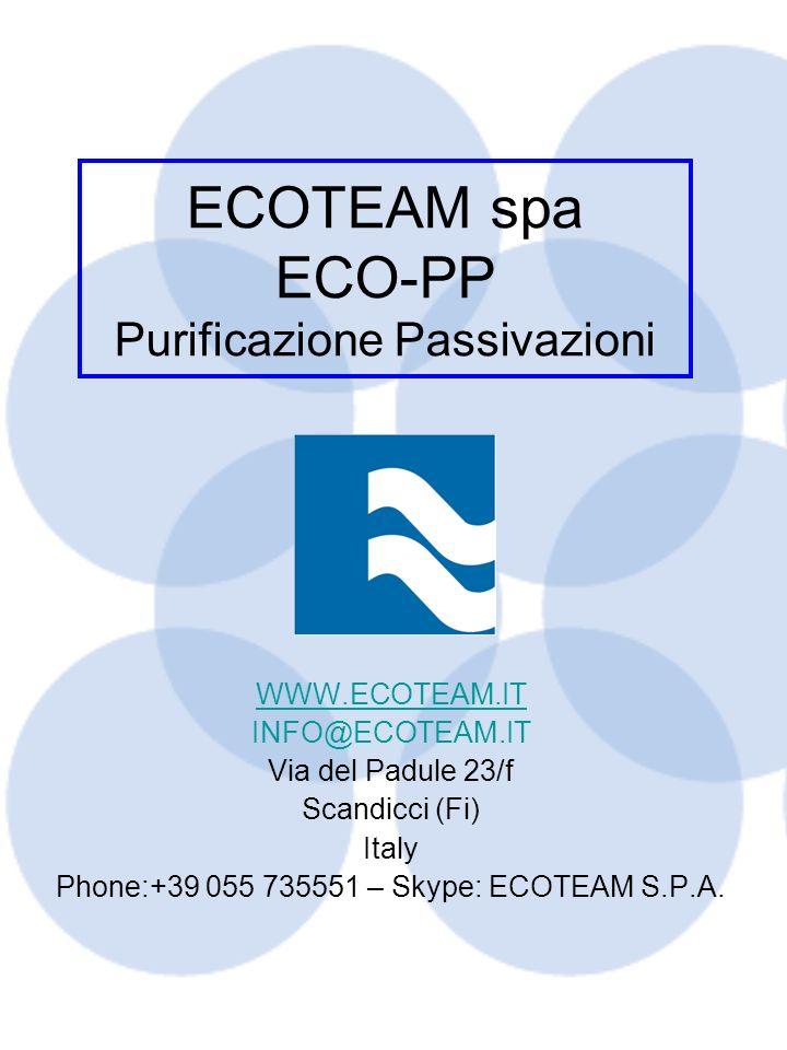 ECOTEAM spa ECO-PP Purificazione Passivazioni