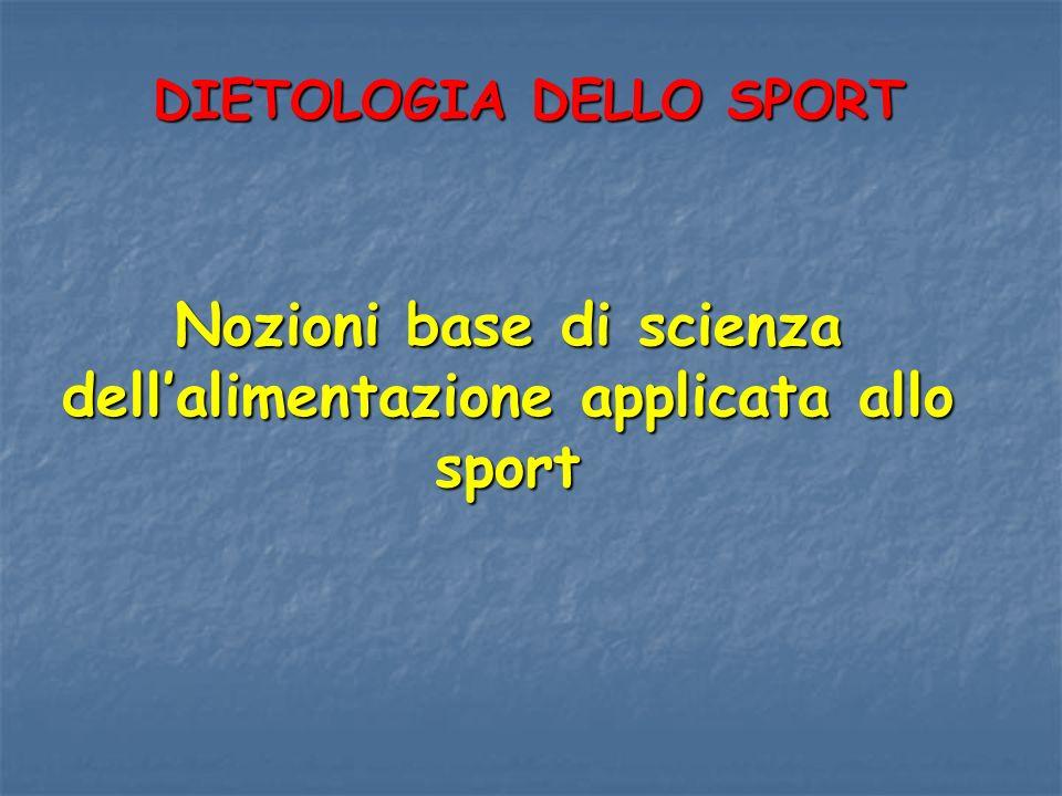 Nozioni base di scienza dell'alimentazione applicata allo sport