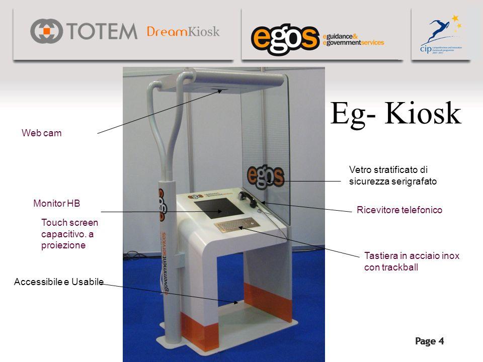 Eg- Kiosk Web cam Vetro stratificato di sicurezza serigrafato