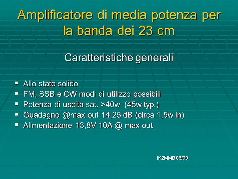 Amplificatore di media potenza per la banda dei 23 cm