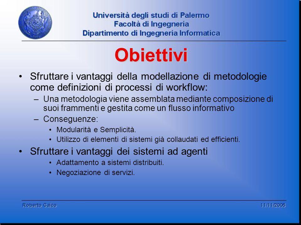 Obiettivi Sfruttare i vantaggi della modellazione di metodologie come definizioni di processi di workflow: