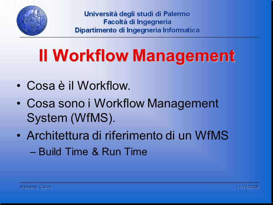Il Workflow Management